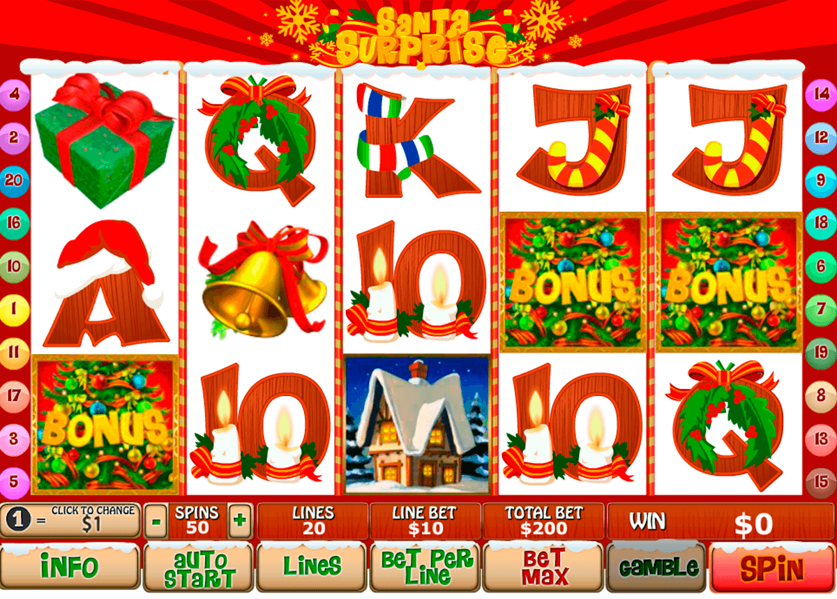 santa surprise playtech casino slot spel