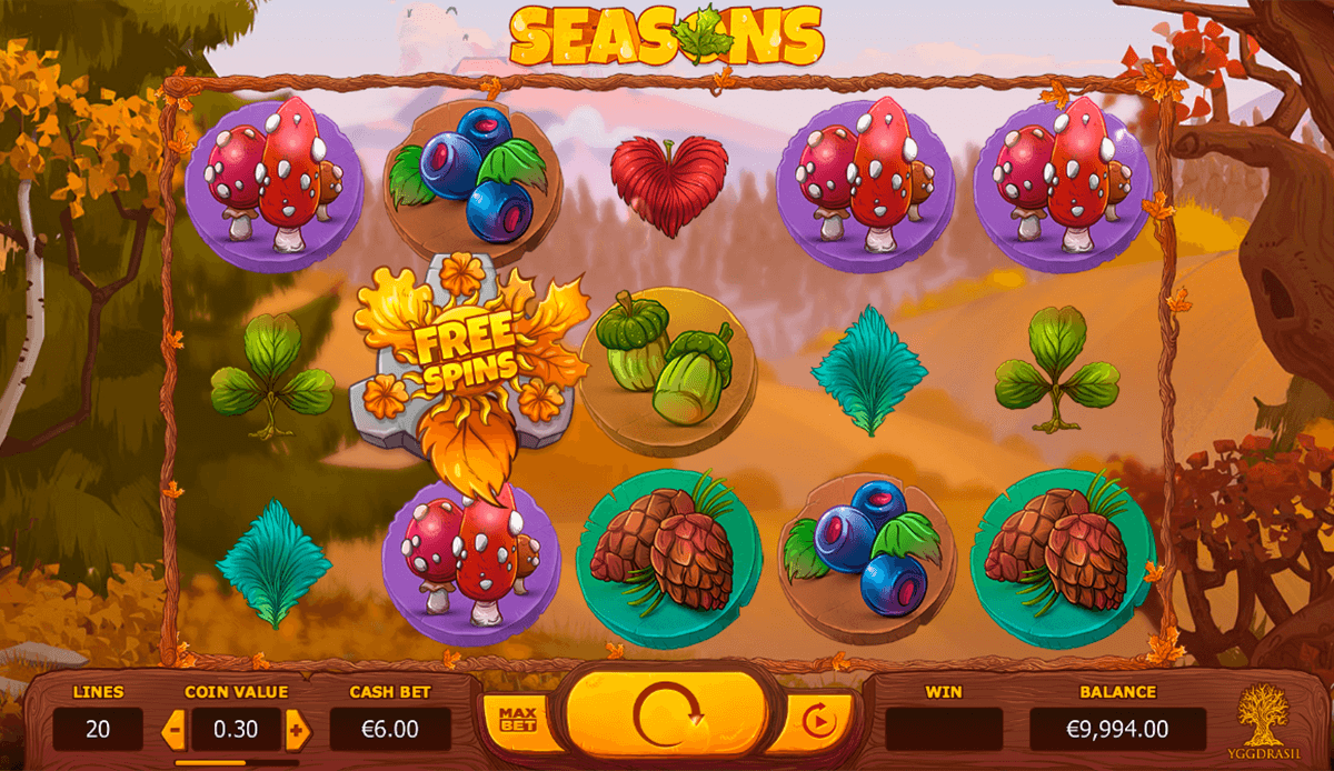 seasons yggdrasil casino slot spel
