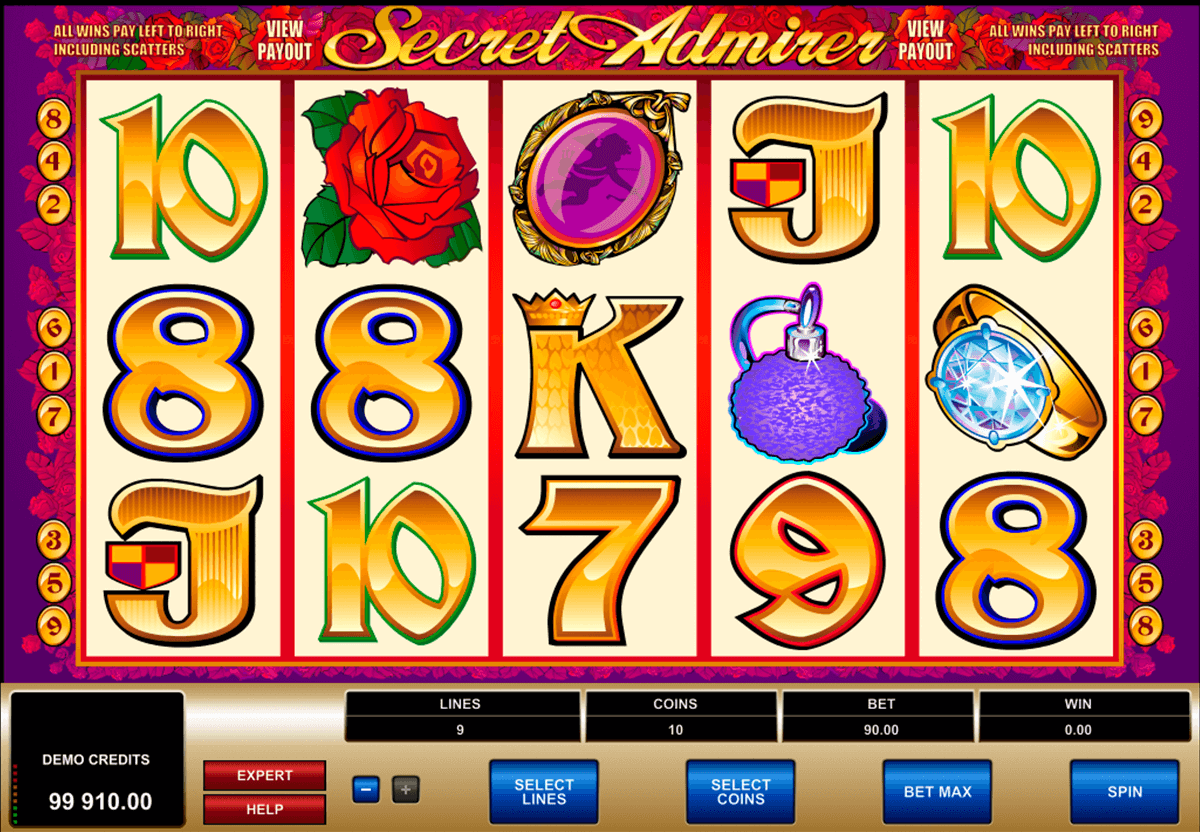 secret admirer microgaming casino slot spel