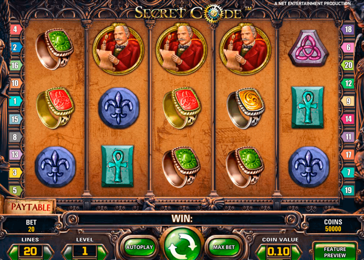 secret code netent casino slot spel