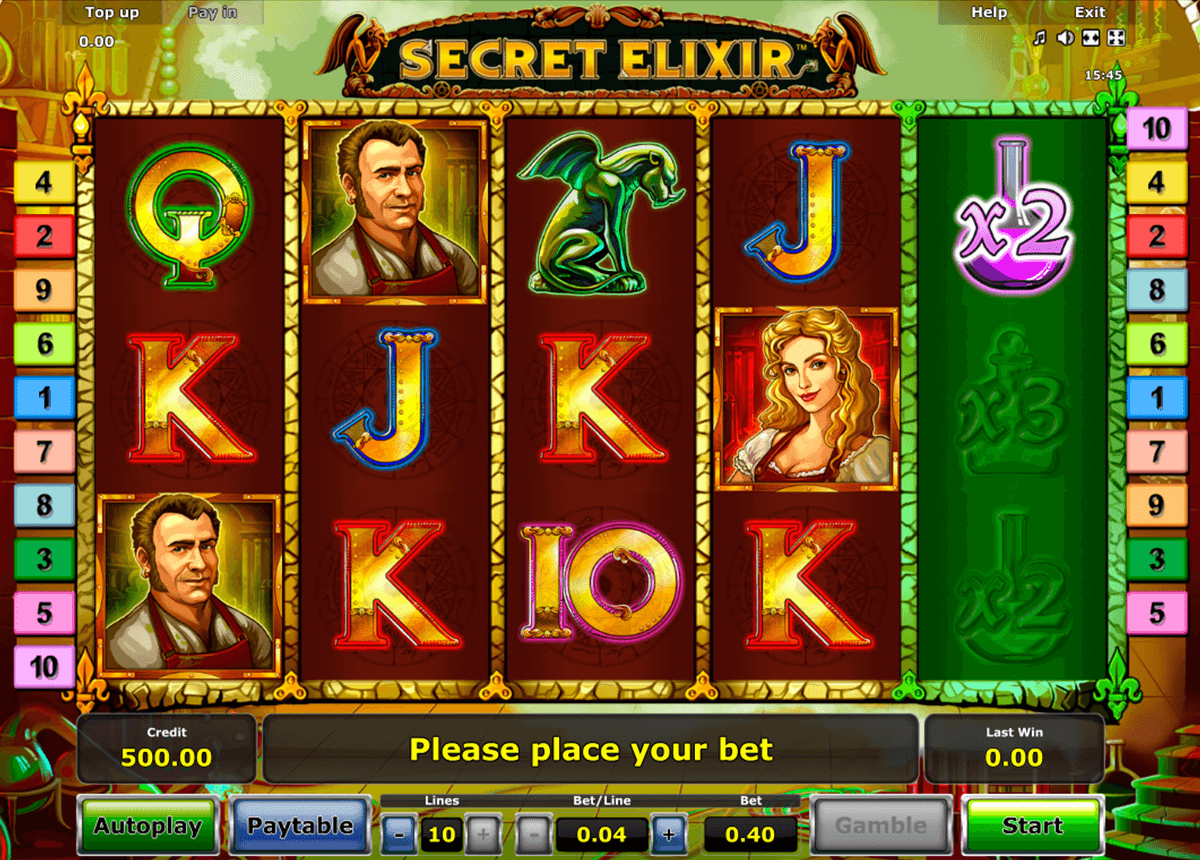 secret elixir novomatic casino slot spel