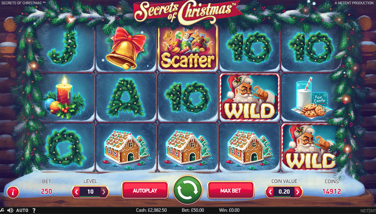 secrets of christmas netent casino slot spel