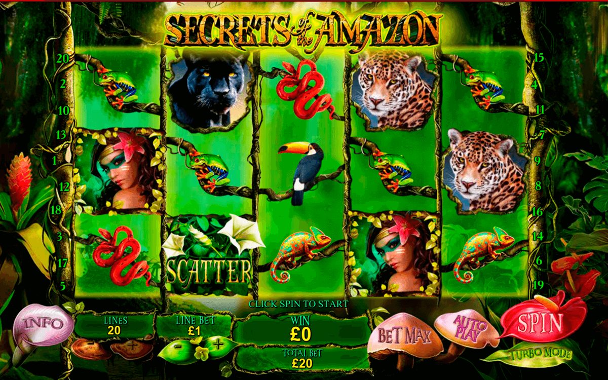 secrets of the amazon playtech casino slot spel
