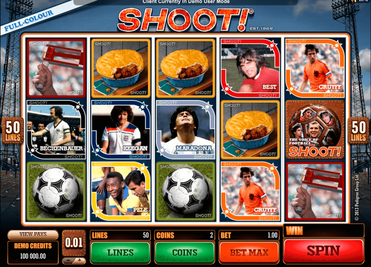 shoot microgaming casino slot spel
