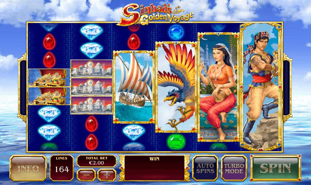 sinbads golden voyage playtech casino slot spel