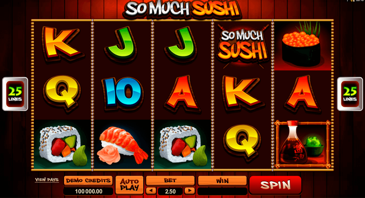 so much sushi microgaming casino slot spel