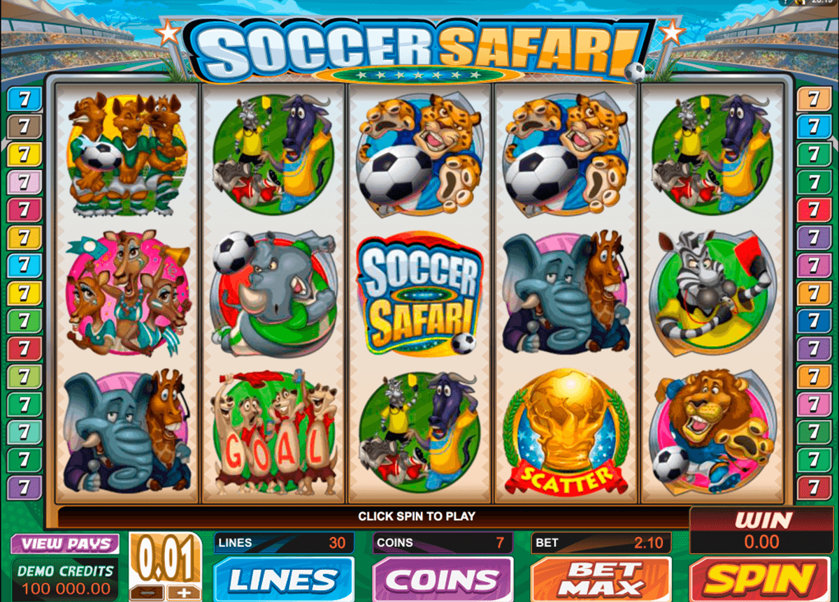 soccer safari microgaming casino slot spel