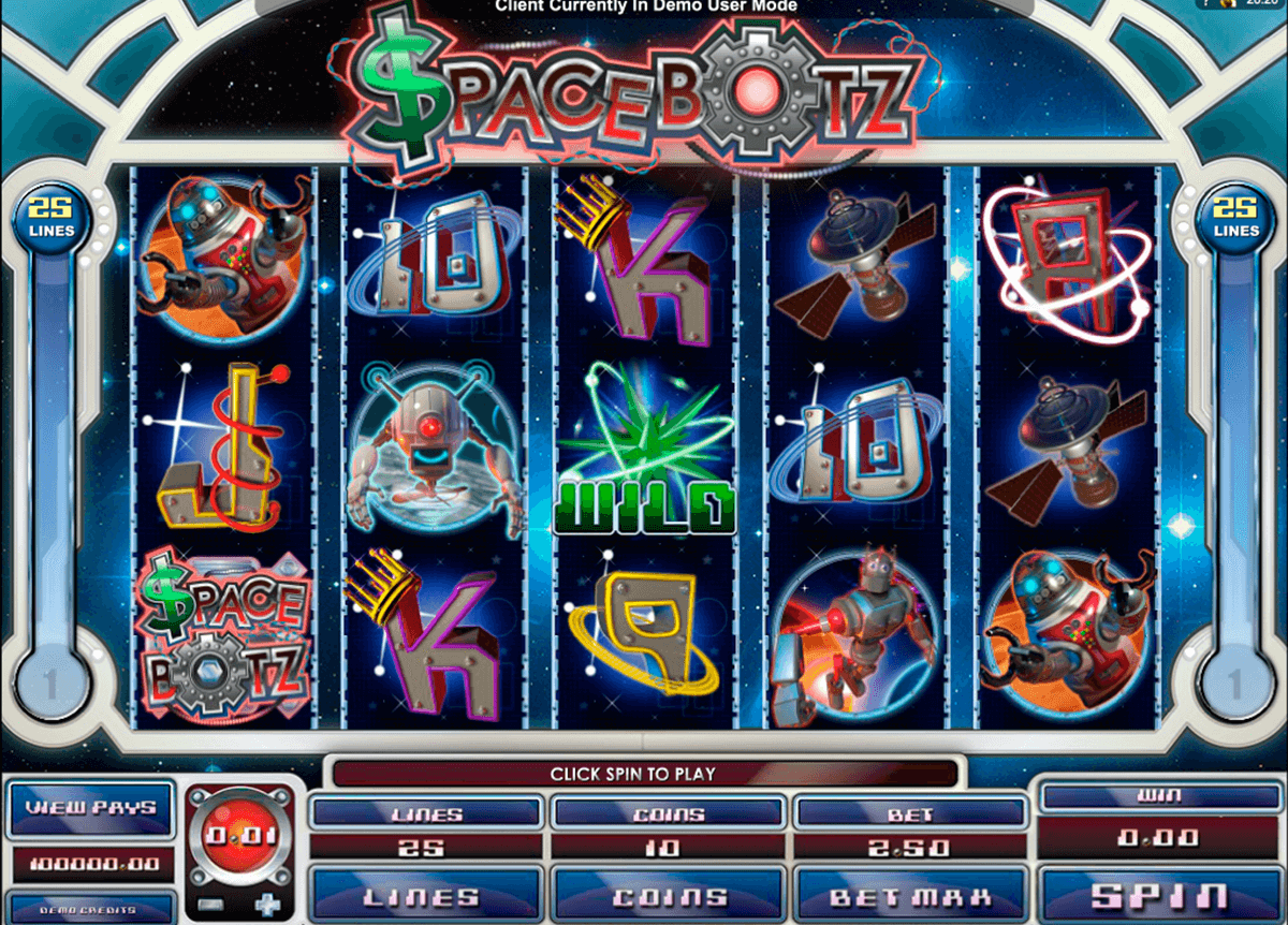 space botz microgaming casino slot spel