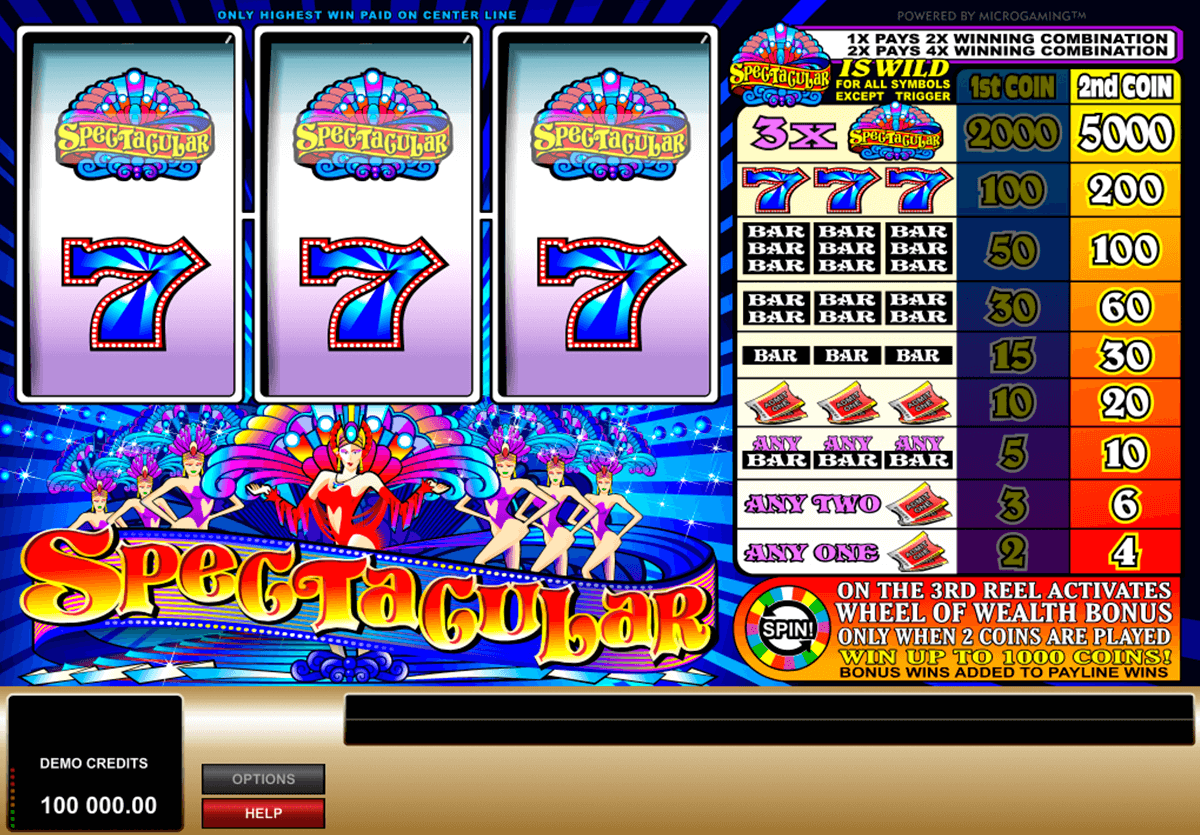 spectacular microgaming casino slot spel