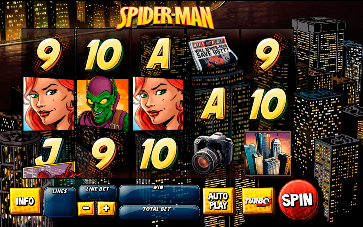 spider man attack of the goblin playtech casino slot spel