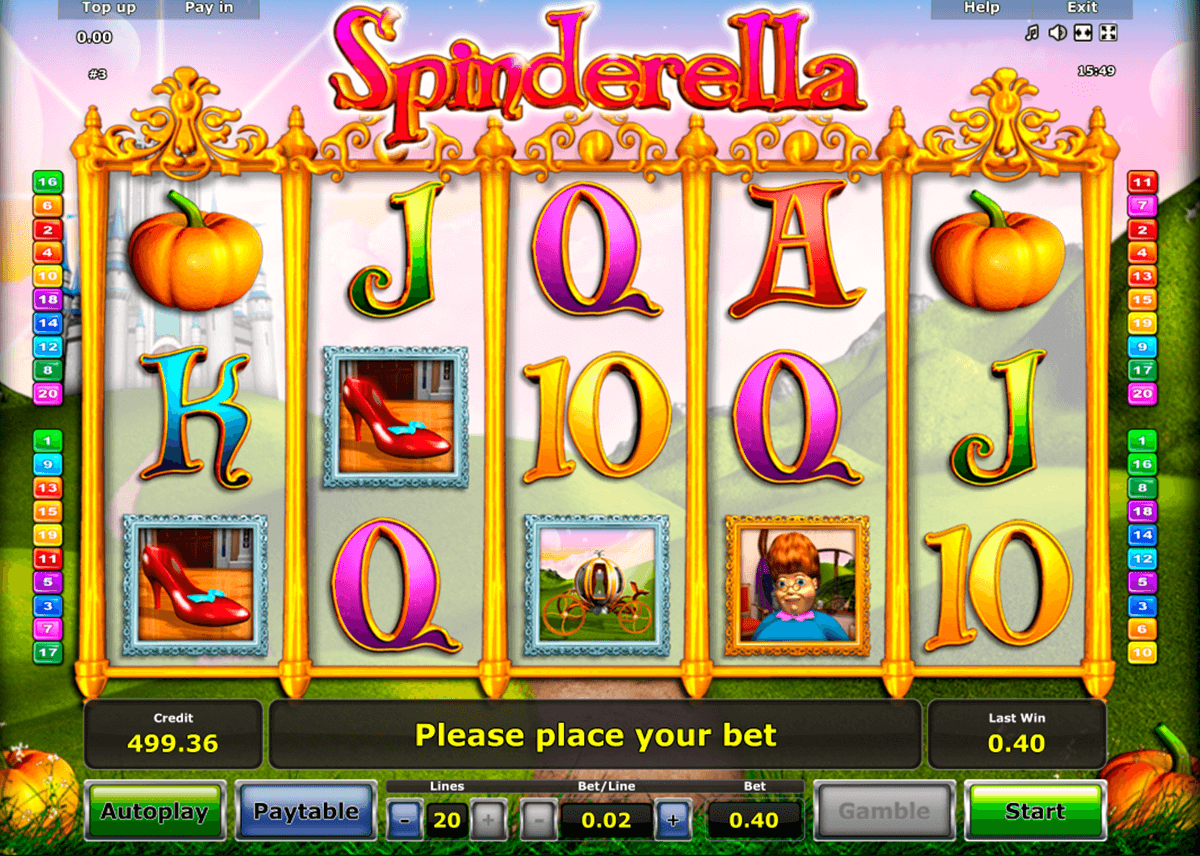 spinderella novomatic casino slot spel