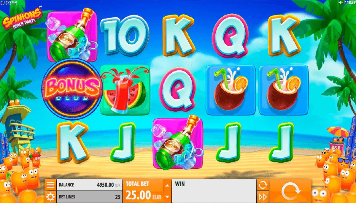 spinions beach party quickspin casino slot spel