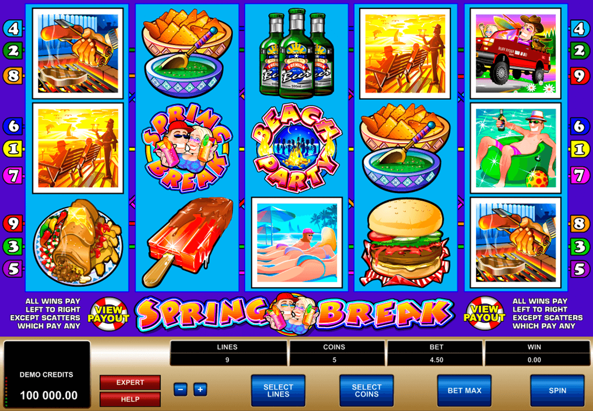 spring break microgaming casino slot spel
