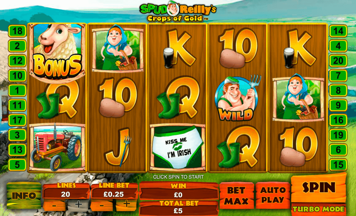 spud oreillys crops of gold playtech casino slot spel