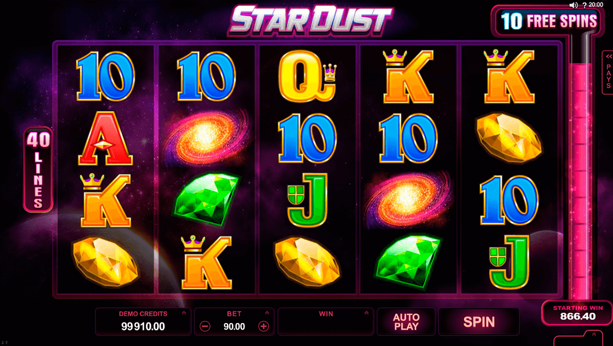 stardust microgaming casino slot spel