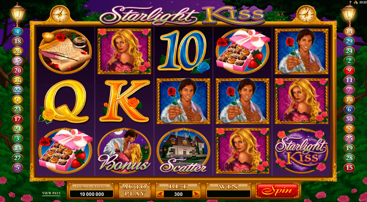 starlight kiss microgaming casino slot spel