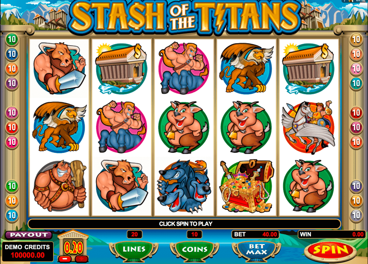 stash of the titans microgaming casino slot spel