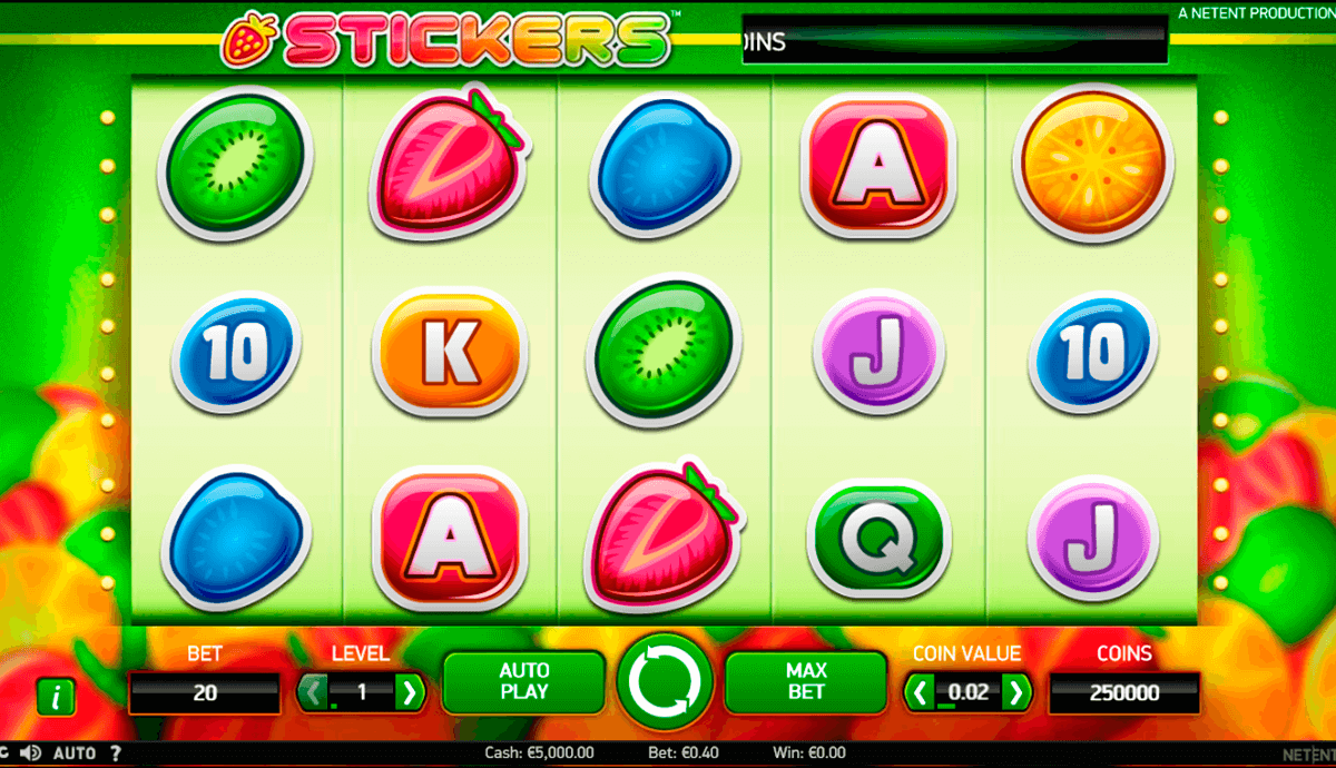 stickers netent casino slot spel