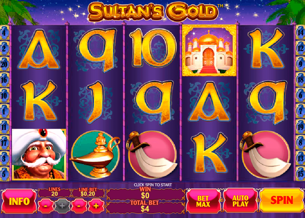sultans gold playtech casino slot spel