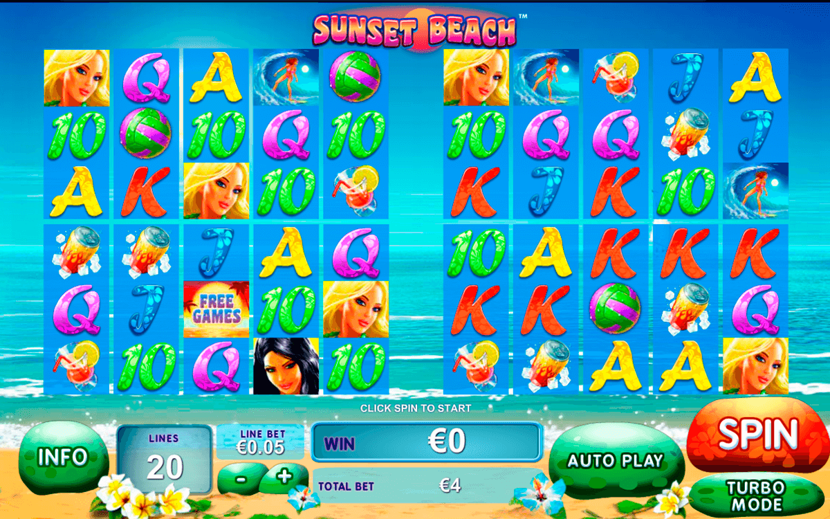 sunset beach playtech casino slot spel