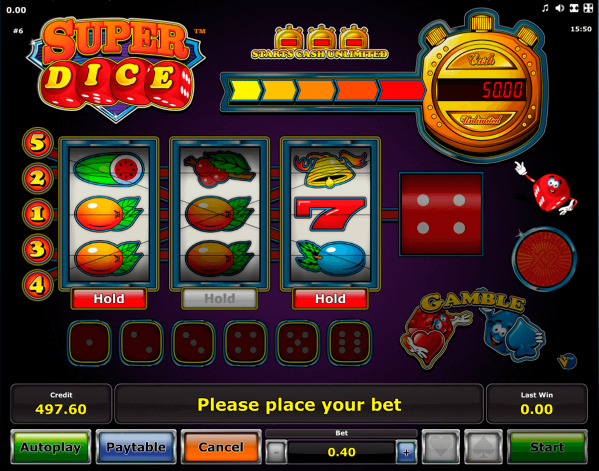 super dice novomatic casino slot spel