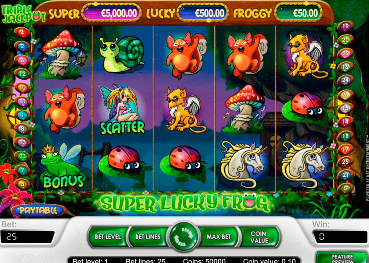 super lucky frog netent casino slot spel