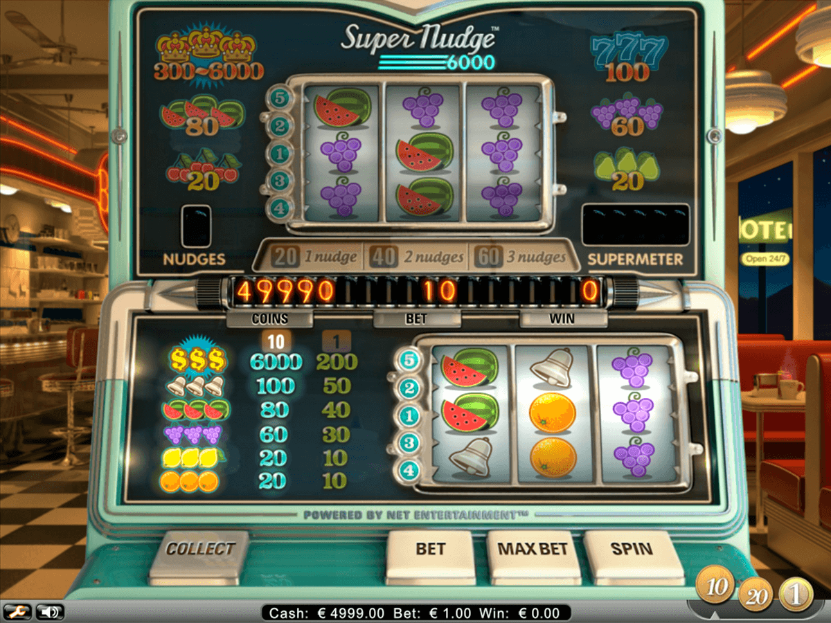 super nudge 6000 netent casino slot spel