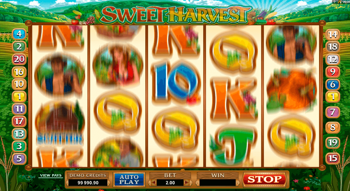 sweet harvest microgaming casino slot spel