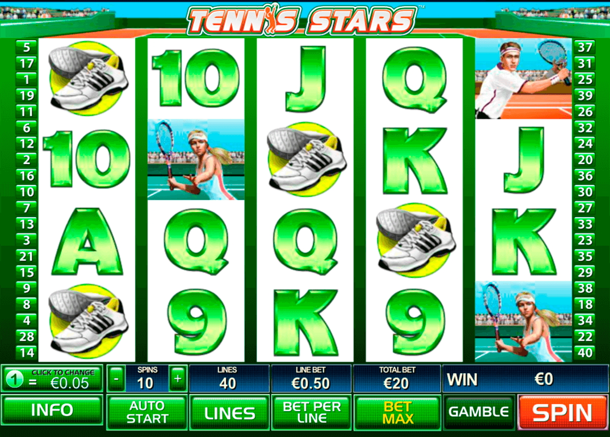 tennis stars playtech casino slot spel