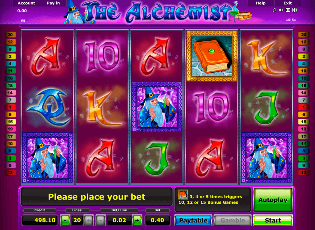 the alchemist novomatic casino slot spel