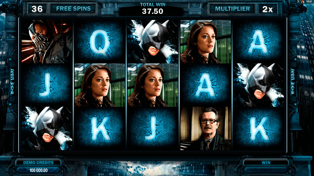 the dark knight rises microgaming casino slot spel