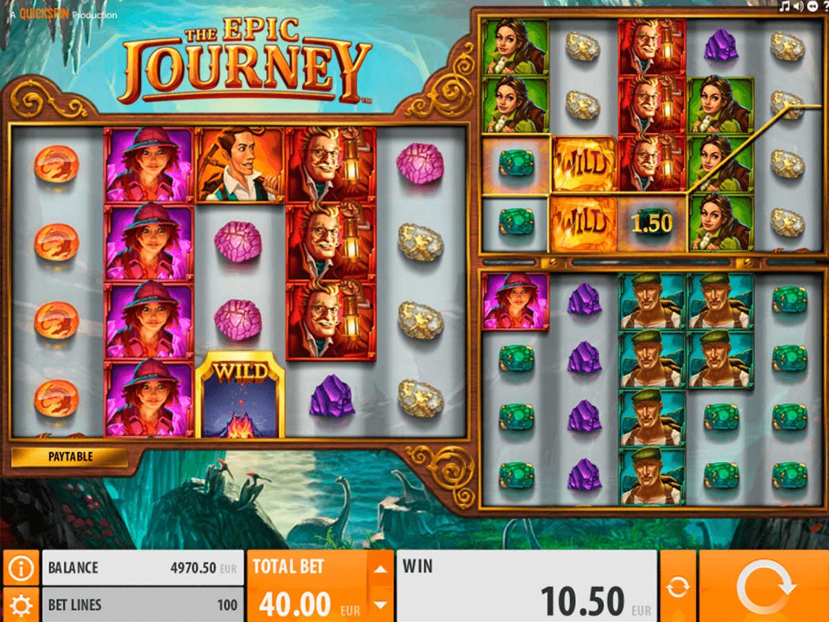 the epic journey quickspin casino slot spel