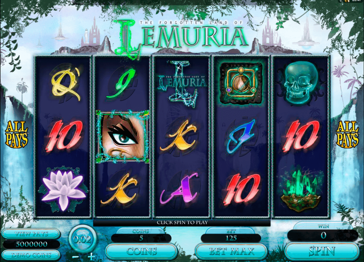 the land of lemuria microgaming casino slot spel