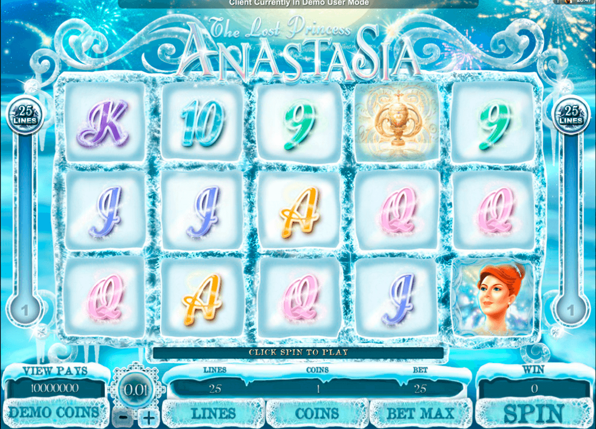 the lost princess anastasia microgaming casino slot spel
