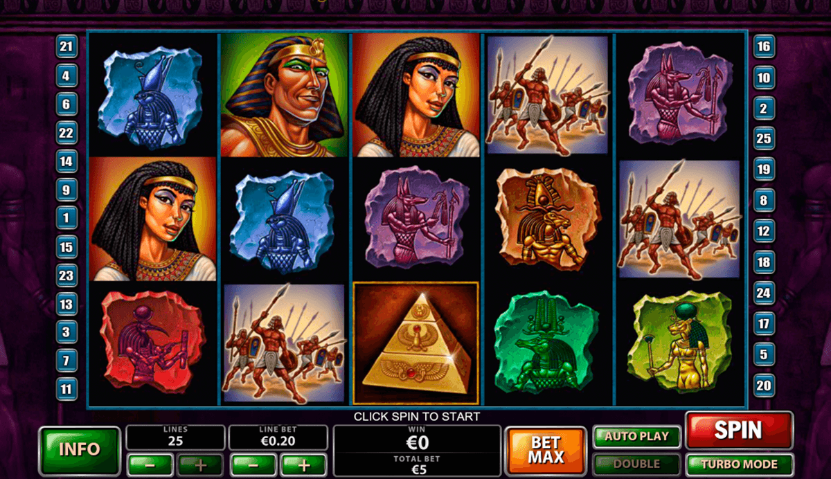 the pyramid of the ramesses playtech casino slot spel