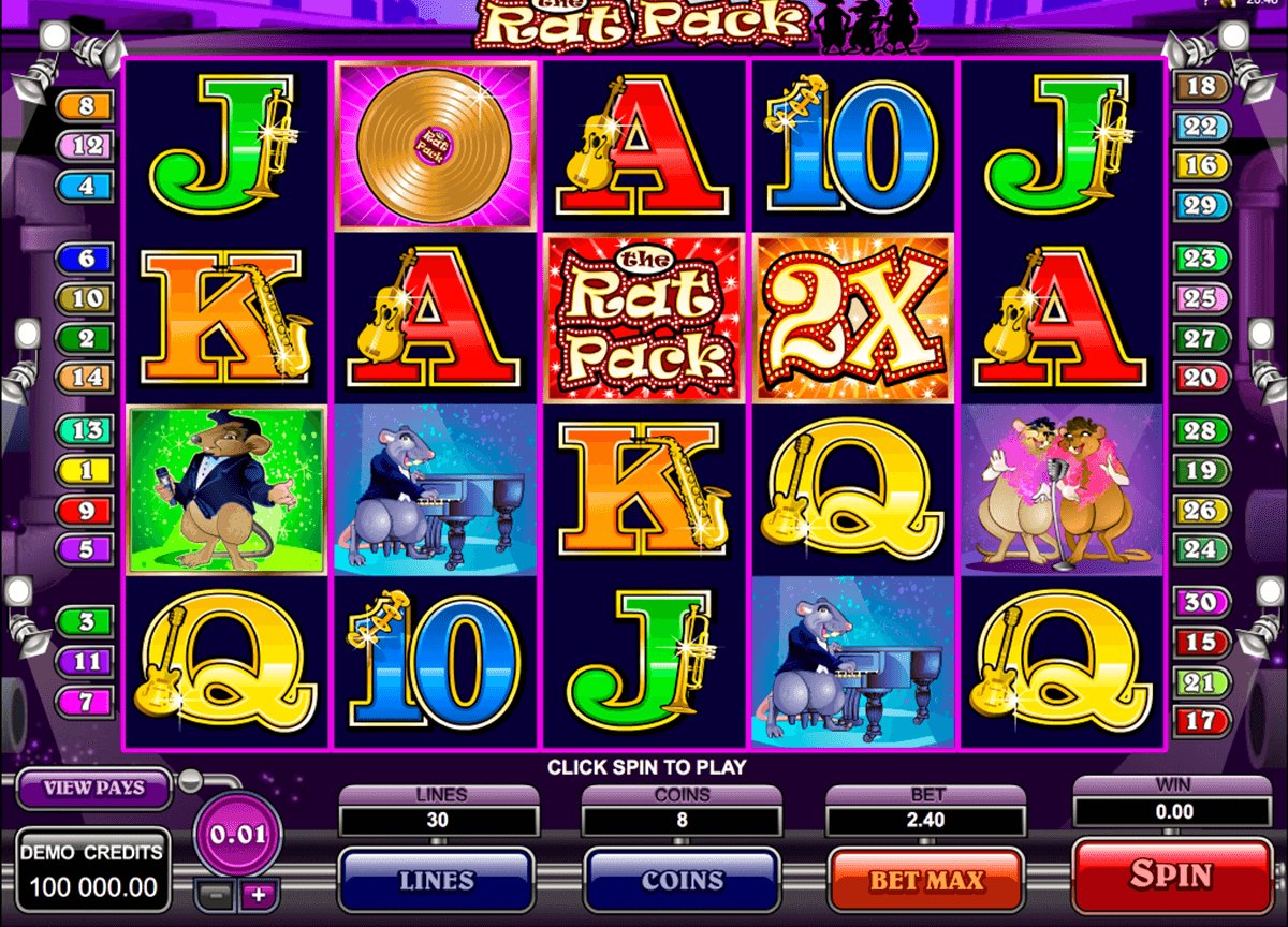 the rat pack microgaming casino slot spel