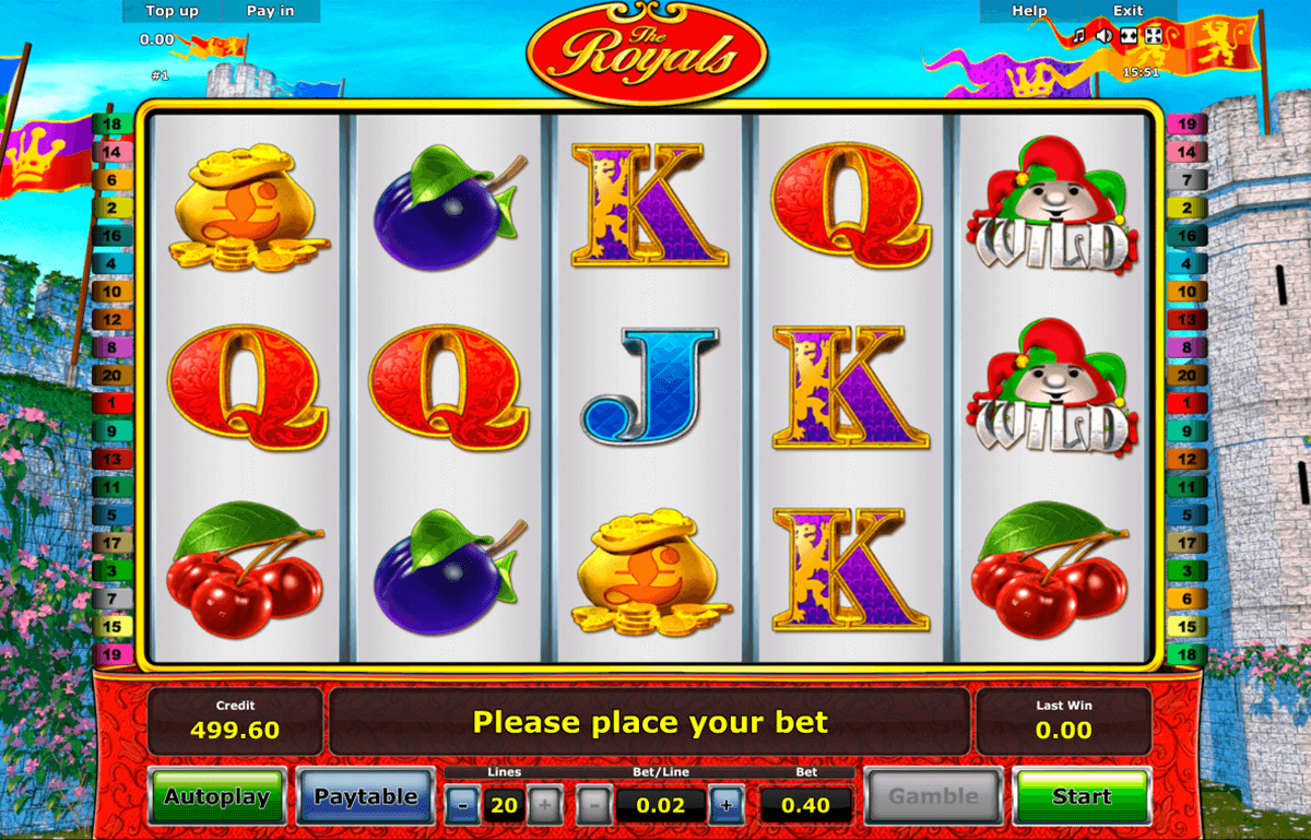 the royals novomatic casino slot spel