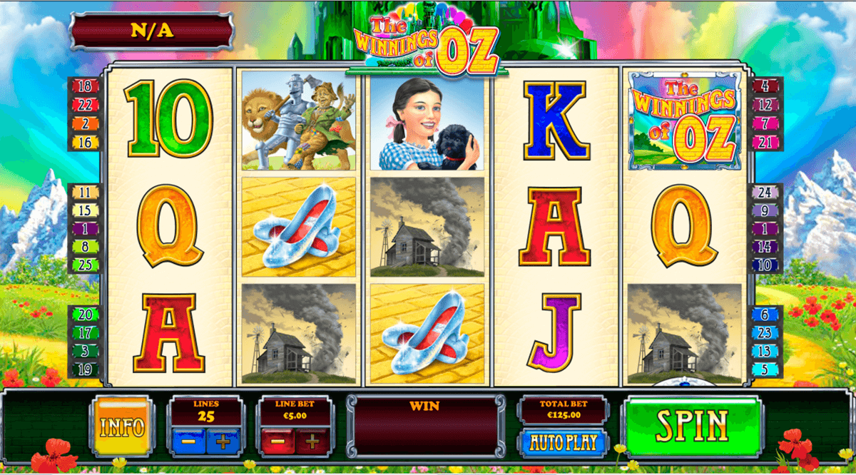 the winnings of oz playtech casino slot spel