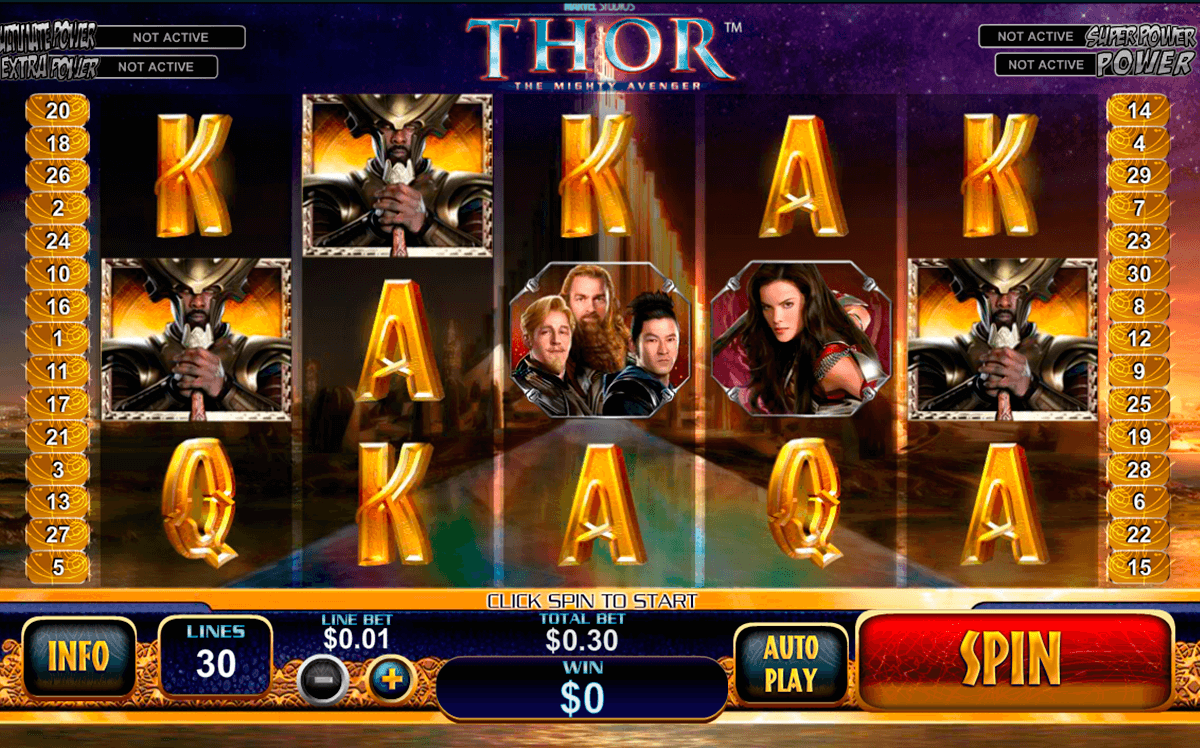 thor the mighty avenger playtech casino slot spel