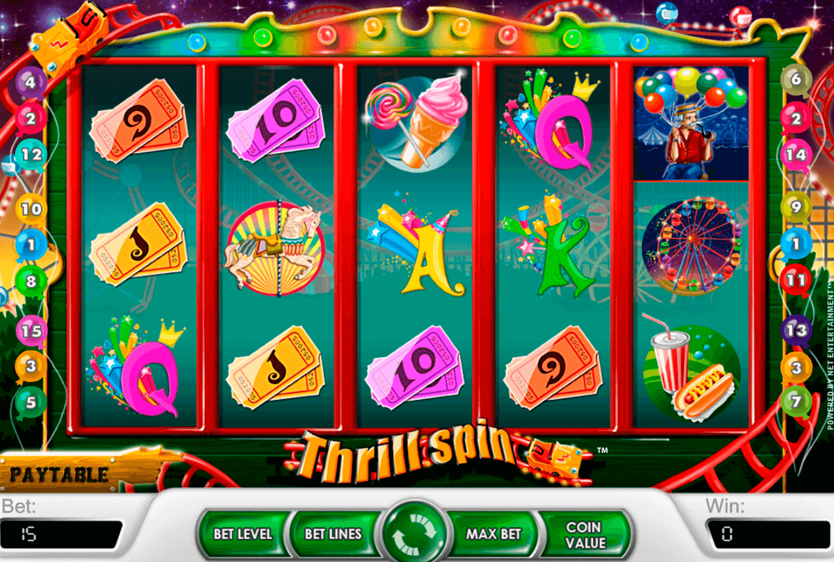 thrill spin netent casino slot spel