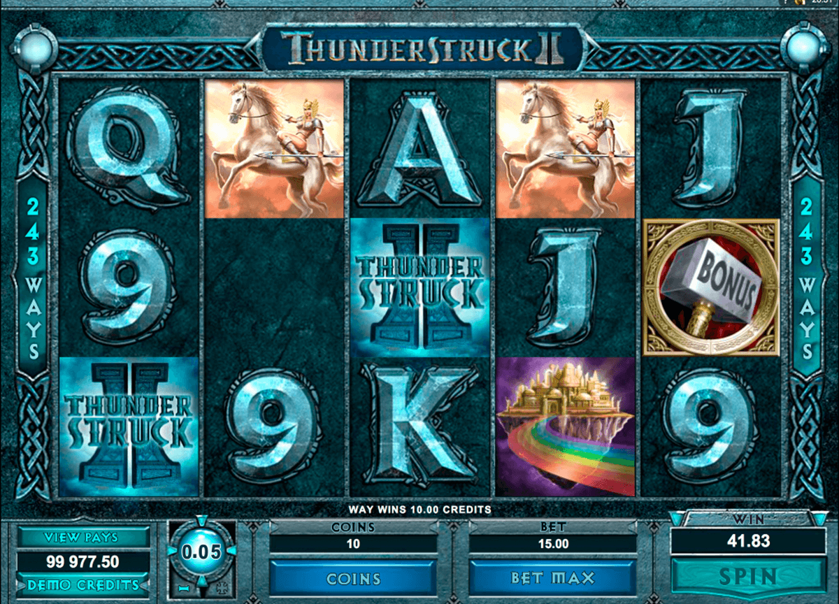 thunderstruck ii microgaming casino slot spel
