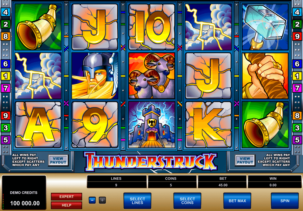 thunderstruck microgaming casino slot spel
