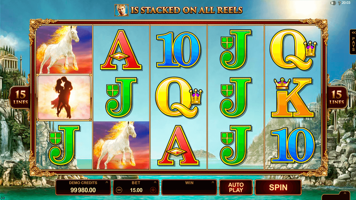 titans of the sun hyperion microgaming casino slot spel