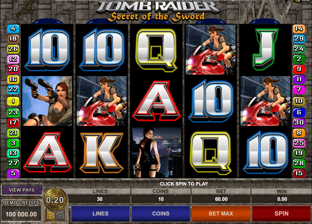 tomb raider ii microgaming casino slot spel
