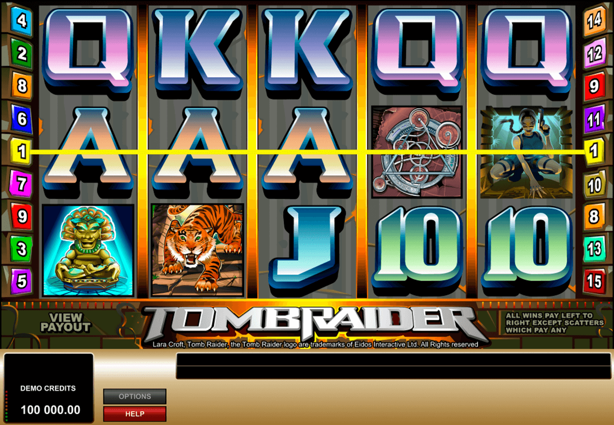 tomb raider microgaming casino slot spel