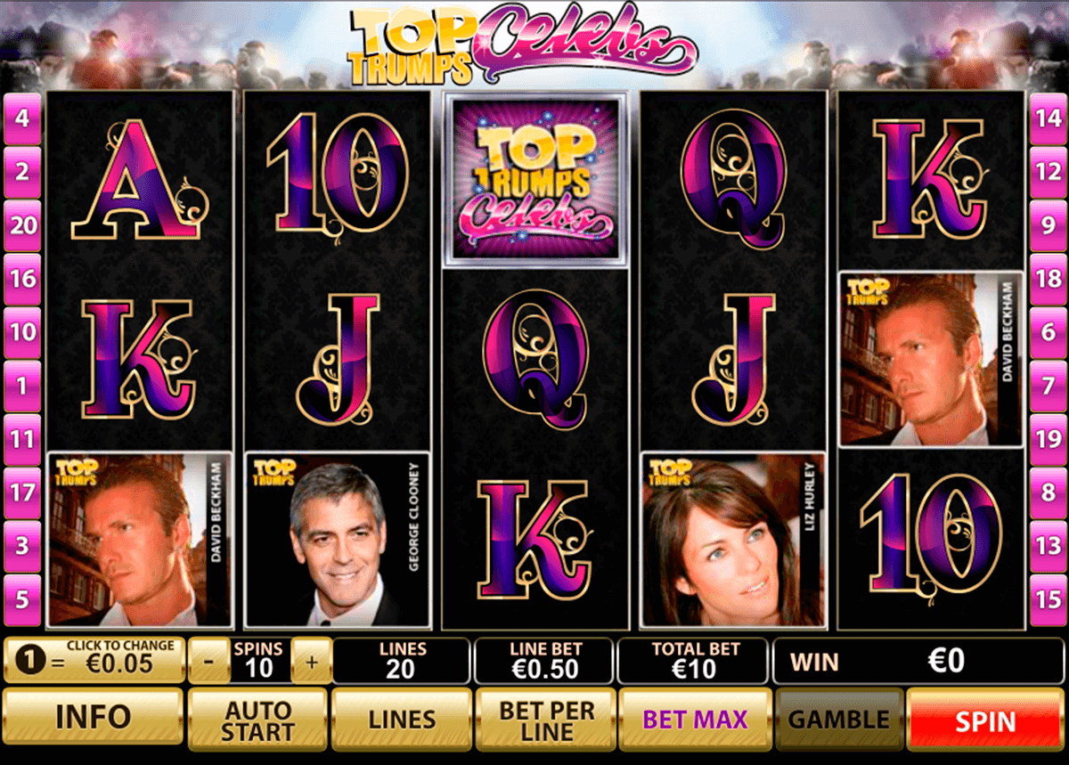 top trumps celebs playtech casino slot spel
