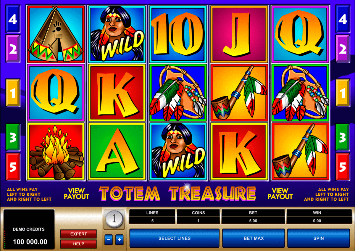 totem treasure microgaming casino slot spel