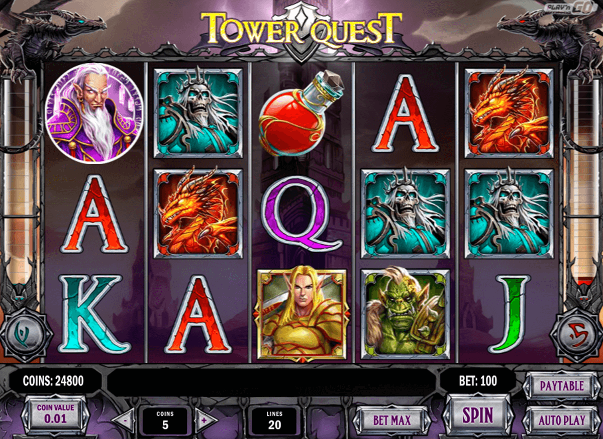 tower quest playn go casino slot spel