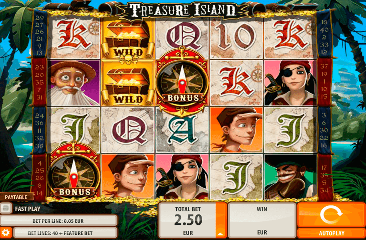 treasure island quickspin casino slot spel