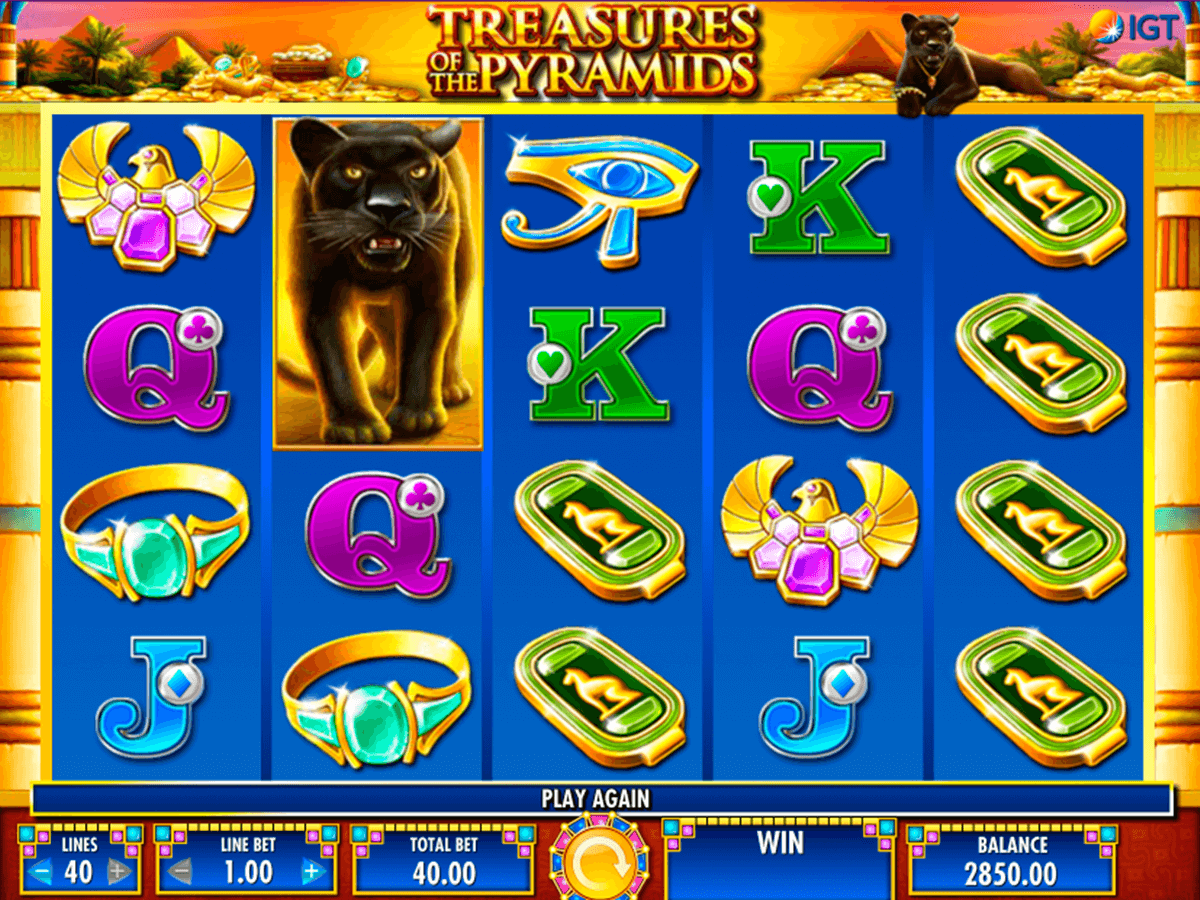 treasures of the pyramids igt casino slot spel